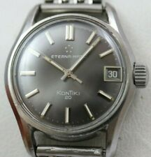 Vintage Eterna-Matic KonTiki 20 Excellent Gray Dial with Expandro Bracelet 34mm