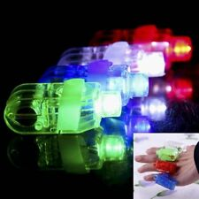 10x LED Finger Light Up Lamp Ring Glow Party Night Club Beams Laser Kids Toy