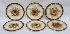 Vintage LONGCHAMP Set of 6 Oyster Plates Basketwave Brown French Faience