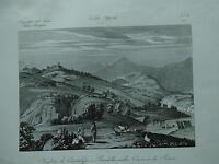 1845 Zuccagni-Orlandini Veduta di Cantalupo e Bardarella nella Comarca di Roma