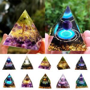 Amethyst Crystal Sphere Orgonite Pyramid Chakra Energy Orgone Stone Muti Styles