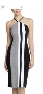 Rachel by Rachel Roy Hailey Black Navy White Dress Size Us 12 Australian 14 Nwtg