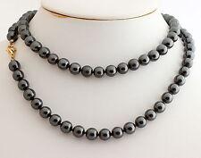Natural Hematite Ball Necklace 8mm80cm Precious Stone Pretty Jewellery