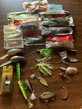 Assorted Fishing Lure Lot Freshwater Plastics, Crankbait, topwater, spinnerbaits