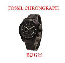 FOSSIL Cronografo massiccio acciaio inox bq1050 con box & documenti ANTRACITE