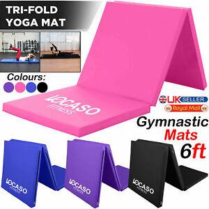 Gymnastics Exercise Tri Folding Mats Crash Floor 5cm Thick Tumbling Yoga Gym 6ft