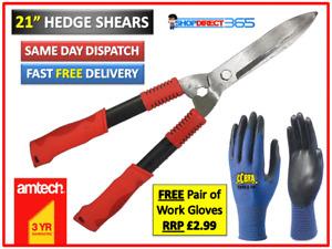 "21"" Inch Carbon Steel Hedge Trimming Cut Gardening Shears Soft Grip Handles U812"