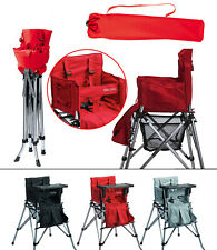 One2Stay Portable High Chair foldable for travel & camping - red, black, or grey