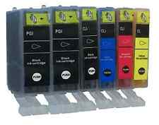 6 Ink for Canon Pixma Series PGI525 CLI526 iP4850 iP4950 MG5350 MX925 Chip
