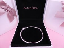 Genuine Authentic PANDORA Moments Charm Bracelet Barrel Clasp 590702HV 21CM NEW