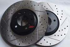 Fits Juke Nismo RS Slotted or Cross Drilled Brake Rotors Akebono Pads Front