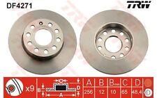 TRW Juego de 2 discos freno Trasero 256mm VOLKSWAGEN GOLF SEAT AUDI A3 DF4271