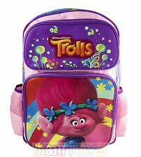 Dreamworks Trolls Poppy Large Back to School Canvas Backpack Book Bag 16""