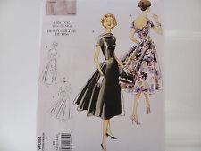 Vogue 1084, Vintage Model, Original 1956 Design, Misses' Retro Dress Sz (14-20)