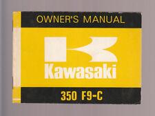 1974 KAWASAKI 350 F9-C  MOTORCYCLE OWNER`S MANUAL / PART NO. 99997-841