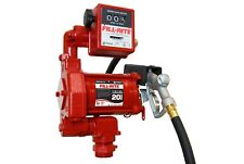 Fill Rite 115v Ac 20gpm Fuel Transfer Pump With Mechanical Meter Amp Manual Nozzle