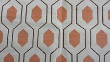 "Euclid - Thom Filicia for Kravet - Apricot fabric remnant 22"" long X 38"" wide"
