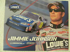 NASCAR 7 TIME CHAMPION JIMMY JOHNSON JOINS PETTY AND EARNHARDT 2003 POST CARD