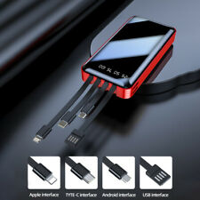 Power Bank 900000mAh 4Usb Type-C Portable External Battery Led Lcd Fast Charging