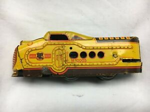 Marx M10005 Union Pacific A 1950's Vintage Yellow Wind-up Locomotive Runs Great