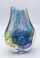 Hand Blown unique Glass Vase Signed Angela Henderson / Jorvik Glass
