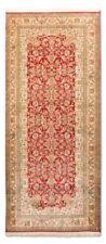 Tapis rouge pour la maison en 100% laine, 90 cm x 180 cm