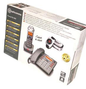 Audioline Amplicomms PowerTel 980 Kombi-Set Telefon Mobilteil & Notrufsender SE2