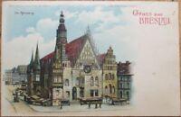 Hold-To-Light 1904 Postcard: Gruss Aus Breslau, Germany - Color Litho, Moon
