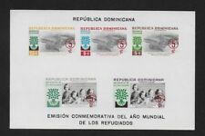 DOMINICANA 1960 World Refugee Year Fund IMPERF Surcharged ** MNH