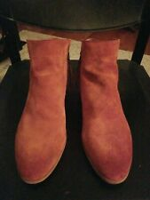 Sam Edelman Womens Packer Paprika Suede Ankle Boots Size 12