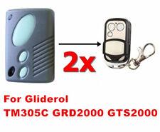 2 x Gliderol TM305C GRD2000 GTS2000 Garage Gate Door Remote Control Replacement