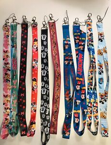 Mix Mickey Minnie Mouse Cartoon Lanyards Neck Straps Charms ID Card Holder