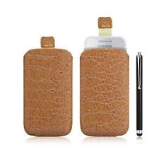Housse coque étui pochette style croco pour Samsung Wave 575 S5750 + Stylet