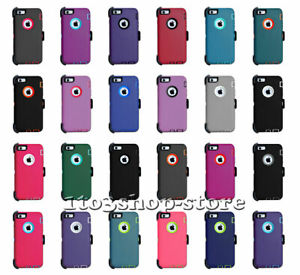 """Defender 5.5"""" iPhone 6 Plus & iPhone 6s Plus Hard Shell Case w/Holster Belt Clip"""