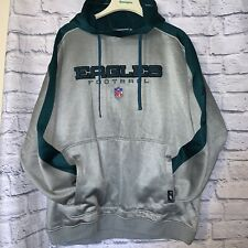 Philadelphia Eagles Team Apparel Reebok Hoodie Sweatshirt Green Silver XL NFL