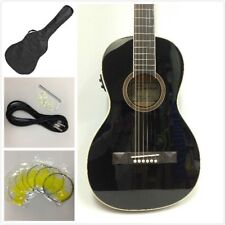 Caraya parlor-590BK Acoustic Guitar,Built-in EQ & Tuner,Black+Free Gig Bag,Picks