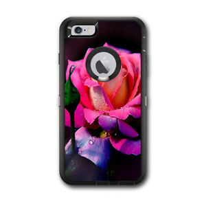 Skin Decal for Otterbox Defender iPhone 6 PLUS Case / Beautiful Rose Flower Pin