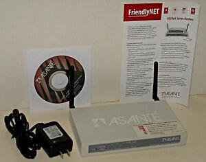 ASANTE FriendlyNET FR1004AL Wireless Internet Router & 4 Port Hub