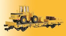 Kibri 26274 gauge H0 Low-Sided Wagon with Radlader Track Construction and Cargo