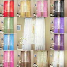 """2 Solid Sheer Voile Window Panel Curtains Drape Treatment Scarf Decor 60""""x84"""""""
