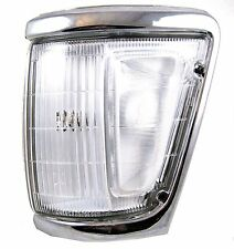 Lámpara De Luz De Esquina Lado De Cromo Para Toyota Hilux Mk3 Pickup Lente carea N/S Izquierdo