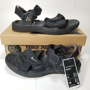 Mens Size 9 Nike ACG Air Deschutz + Sandal Dc9093-001 Black/Iron Grey