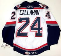 RYAN CALLAHAN HARTFORD WOLFPACK AUTHENTIC WHITE REEBOK EDGE JERSEY 46 RANGERS