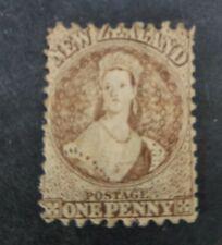 New Zealand 1871-3 Chalon 1d brown Mint!, also rare perfs!
