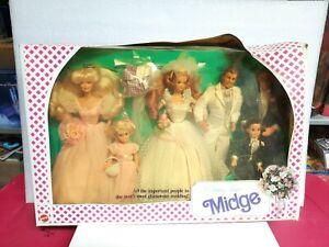 Midge Wedding Party Gift Set MATTEL New In Box Damaged Packaging