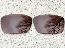 ENGRAVED POLARIZED AMBER BROWN REPLACEMENT LENSES FOR OAKLEY FUEL CELL