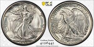 1943-S Walking Liberty Half Dollar PCGS Certified MS66