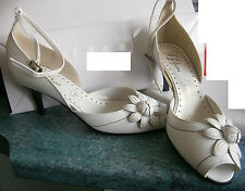 sandales blanches hauts talons