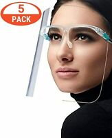 1 PC,2 PCS,5 PCS,SAFETY FULL FACE SHIELD GUARD PROTECTOR,CLEAR GLASSES