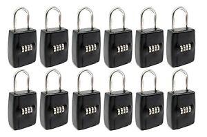 [12-PACK] Realtor Real Estate Key Lockbox Set Your Own 4 Digit Combination